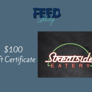 $100 Streatside Eatery Gift Certificate
