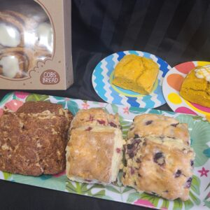 DESSERT – Cobs Bread – Assorted Scones and Mini Cinnamon Buns