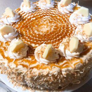 DESSERT – Mocha Cabana – Toasted Coconut Caramel Cheesecake
